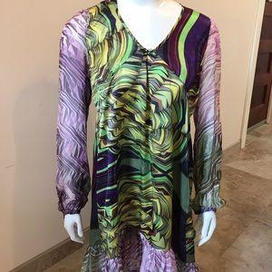 NEW Custo Barcelona long sleeve mini dress/ tunic